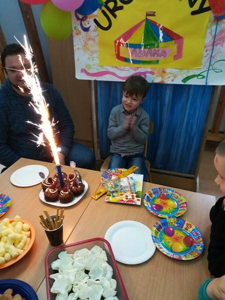 Piąte urodziny Adasia z grupy Skrzatów